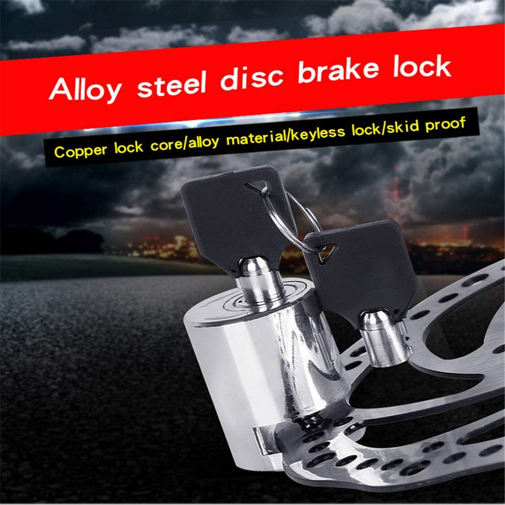 Bicycles Disc Brake Lock Heavy Duty Alloy Steel Bike Scooter Motorcycles Combination Lock Combo Gate Lock for Anti Theft