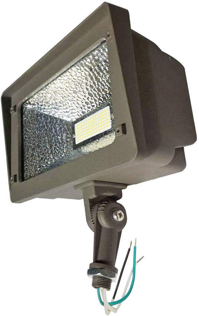 180 Degree Adjustable Knuckle Mount Garden LED Floodlight for Yard 7800 Lumens IP66 Waterproof Area Perimeter and Security Lighting Fixture 5000K AntLux Outdoor LED Flood Lights 70W Landscape