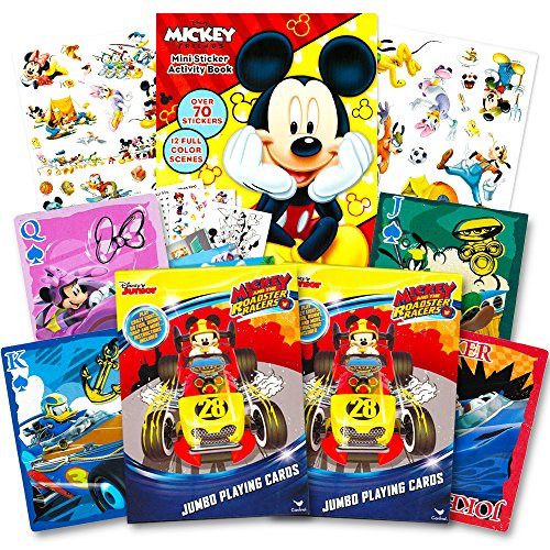 Mickey Mouse Cards Playing (Disney Mickey Mouse Playing Cards Set -- 2 Decks and Stickers (Mickey Mouse Card Games))