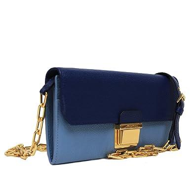 47241d374113 Miu Miu by Prada Color Block Blue Leather Women s Chain Shoulder Bag ...