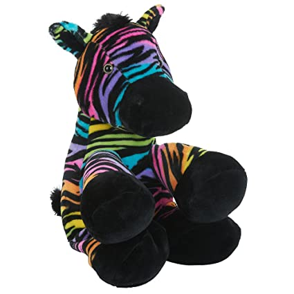 Toys R Us Plush 12 inch Rainbow Zebra - Multicolored