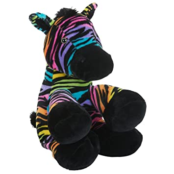 Toys R Us Plush 12 inch Rainbow Zebra - Multicolored by Toys R Us