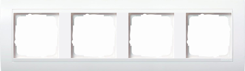 Gira 0214327 - Marco embellecedor para 4 enchufes, color blanco mate