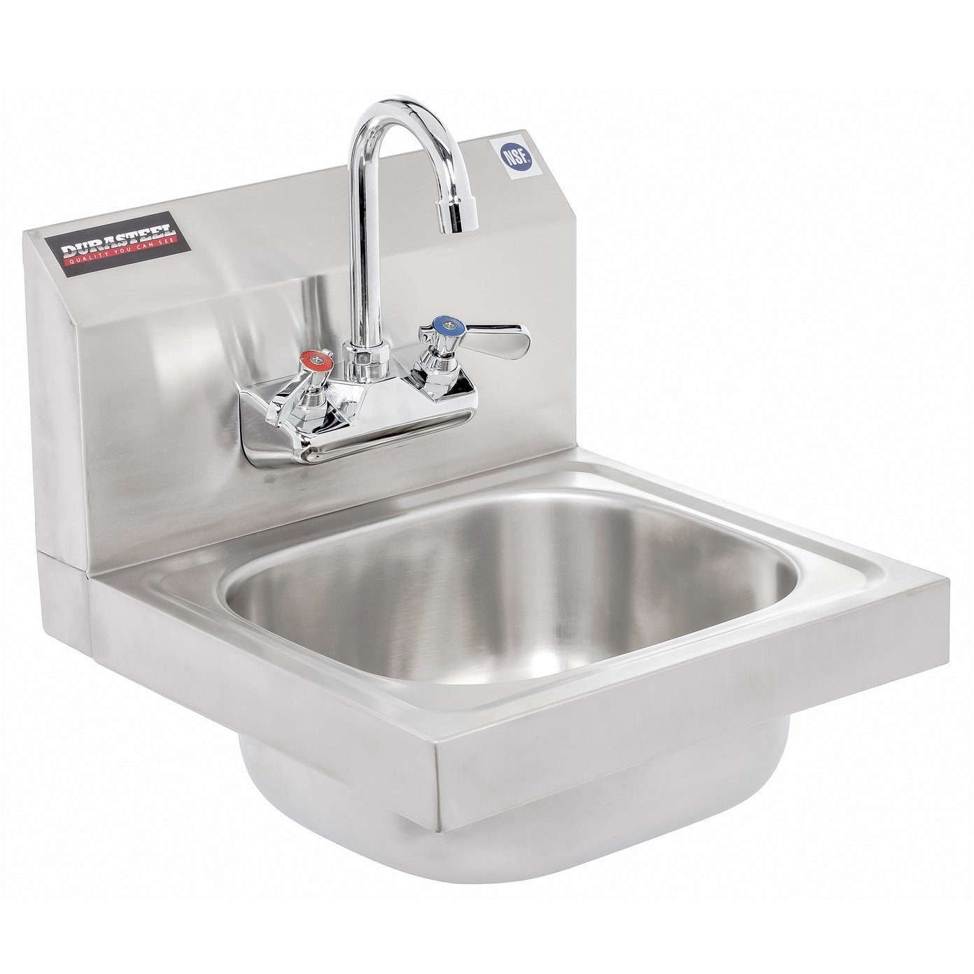 Durasteel Stainless Steel Hand Sink With 10w X 12l X 6d Bowl