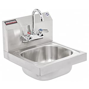 """DuraSteel Stainless Steel Hand Sink with 17""""W x 16""""L x 13""""H Sink Dimension 