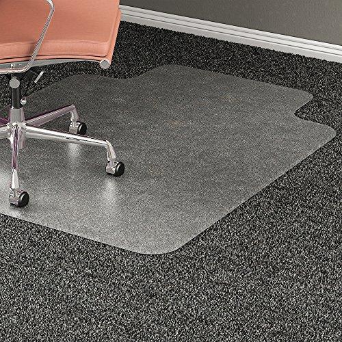 Lorell 69166 Medium Pile Chairmat, 45''x53'', Lip 25''x12'', Clear by Lorell