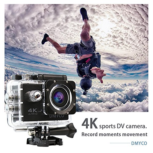 DMYCO Action Camera 4K, Waterproof Sport Camera Cam With 2