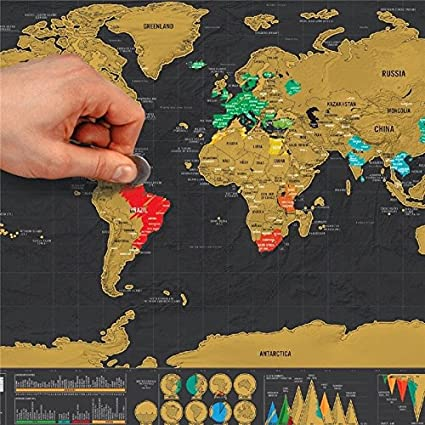 Buy new new deluxe travel edition scratch off world map poster new new deluxe travel edition scratch off world map poster personalized journal map gumiabroncs Image collections