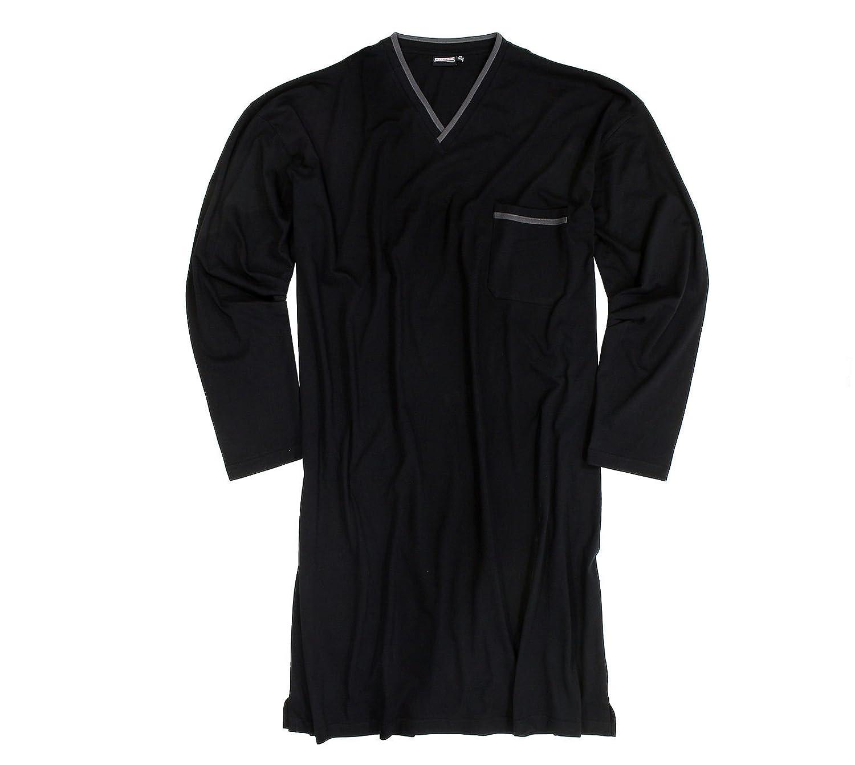 Leichtes Herren Nachthemd in schwarz in großen Größen von 3XL - 10XL B076CM6P1G Nachtwsche & Bademntel Schön