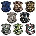Eytan 8/9/10/11/12 Pcs Multifunctional Headwear Face Shield Neck Gaiter Scarf Wrap Sweatband Headband for Hunting Fishing Hiking - Magic Sports Seamless Tube Bandana