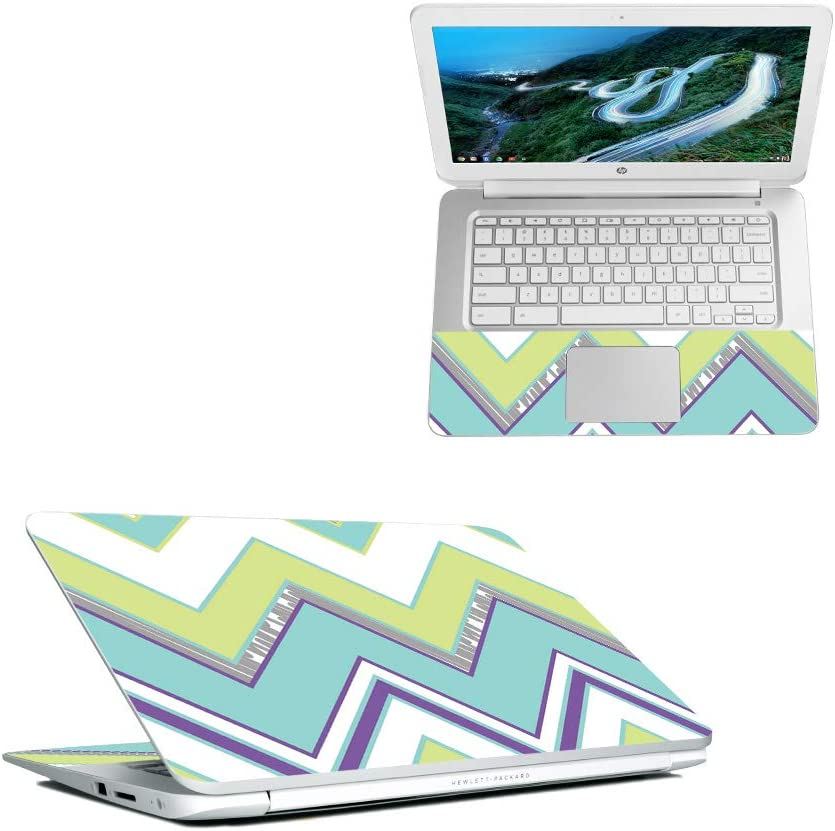 "MightySkins Skin Compatible with HP Chromebook 14"" (2018) - Pastel Chevron 