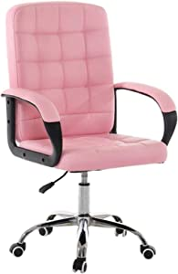 HTL Comfortable Lift Swivel Chair Office Chair Can Reduce Back Pain Air Lift Chair Height Can Adjustment and Lock Kneeling Chair,Pink
