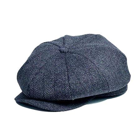 Newsboy Cap, Winter Warm Hombres Newsboy Flat Cap Flat Cap Gorra ...