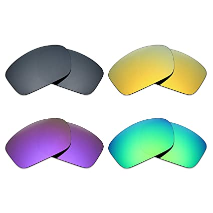 731eb1898fa Image Unavailable. Image not available for. Color  Mryok 4 Pair Polarized  Replacement Lenses for Oakley Scalpel Sunglass - Black IR 24K Gold