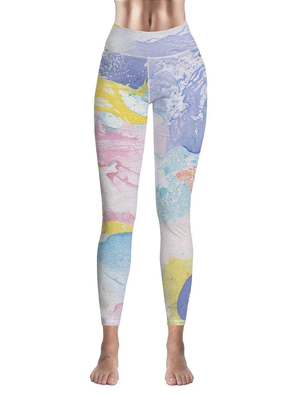 Custom Leggings Women High Waist Soft Yoga Workout Stretch Printed Graffiti Pattern Stretchy Capris Pants