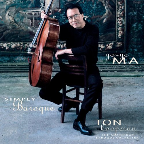 Cover of Yo-Yo Ma - Simply Baroque ~ Bach & Boccherini / ABO, Koopman