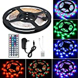 Flexible LED Strip Light Kit Linkstyle 16.4Ft LED Rope Lights 300 LED Tape Light, Color Changing RGB LED Strip Lights & 44Key Remote Controller and 12V Power Supply for DIY Bedroom Home Bar Party