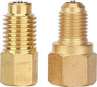 Qii lu 2pcs 1/4SAE-1/2ACME adapter-verbindingsstuk koppeling voor auto-airconditioning R134A