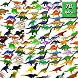 OuMuaMua Dinosaur Figure Toys 78 Pack - Plastic...