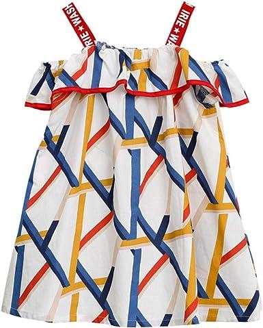 Toddler Kids Baby Girls Princess Dress Off-Shoulder Floral Lace Tulle Dresses Party Shirt Skirt Summer Clothes