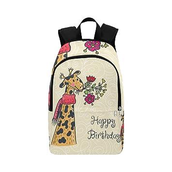 Tarjeta de Feliz cumpleaños Cartel ilustrado Mochila Casual ...
