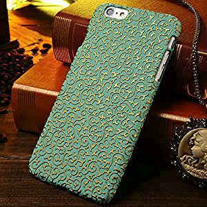 "100 Pcs/lot Luxury PC Hard Case For iPhone 6 Plus 5.5"" Inch Fashion Palace Flower Mobile Phone Back Cover Wholesale DHL --- Color:green"