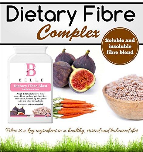 Belle® Fibra Dietética Blast - Fibra Soluble e Insoluble Blend IBS suplemento - Comprimidos de alta fibra comprimidos - Apropiado para mantener un intestino ...