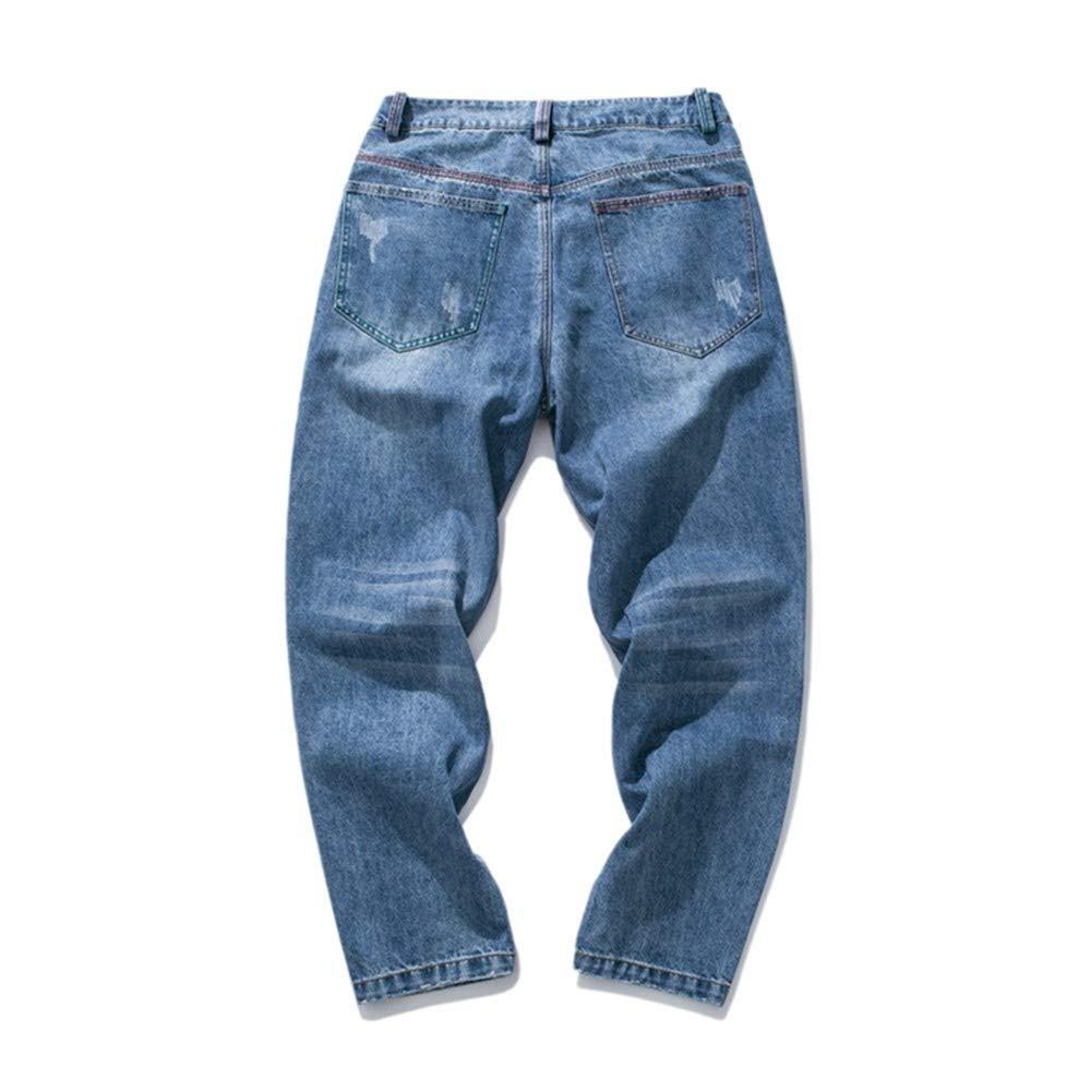 EVEORSSRA Jeanshosen 2018 Herbst Winter Reine Farbe Wild Basic Damp Männer Füße Jeans