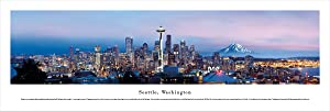 Seattle, Washington - Unframed Blakeway Panorama Print