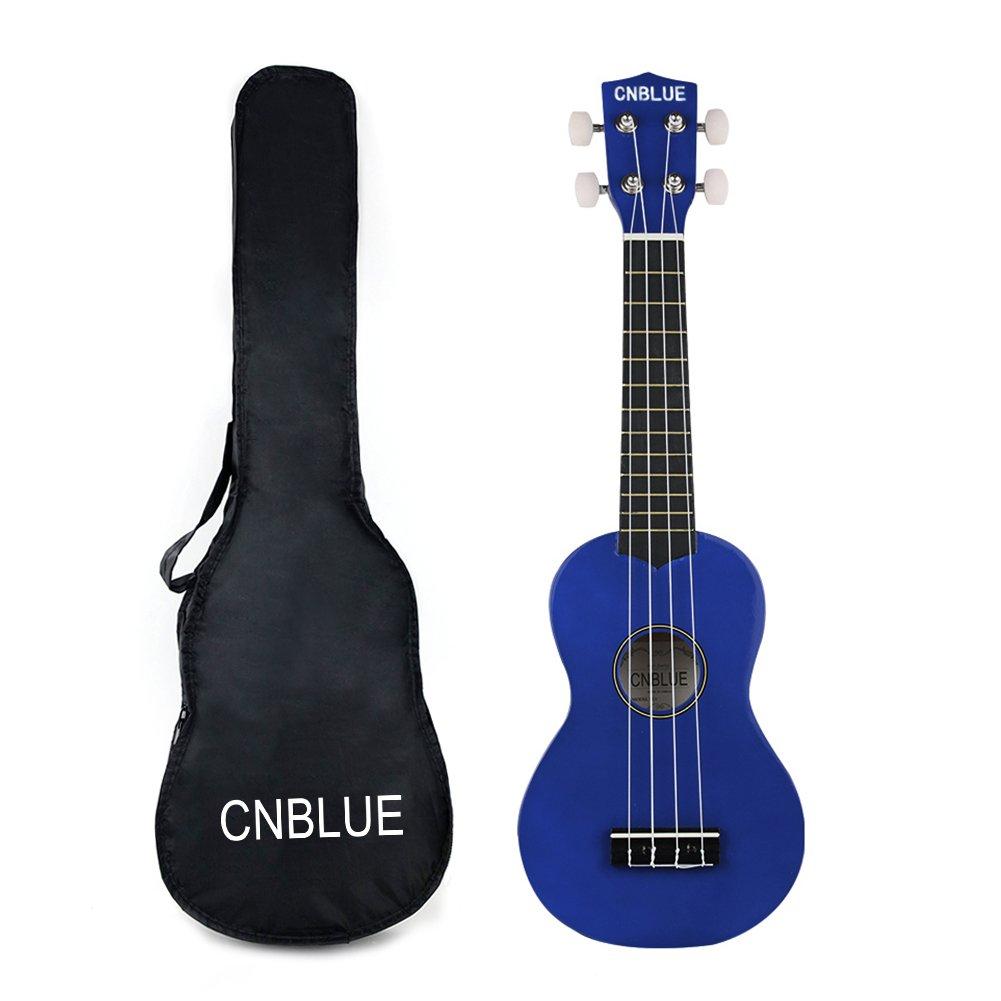 Soprano Ukulele 21 inch Beginner Starter Ukulele for Children with Gig Bag (Blue) cnblue CB-UK21B