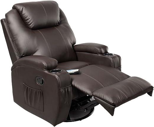 sHoPpErChOiCE Ergonomic Deluxe Massage Recliner Sofa Chair Lounge Executive Heated w Control