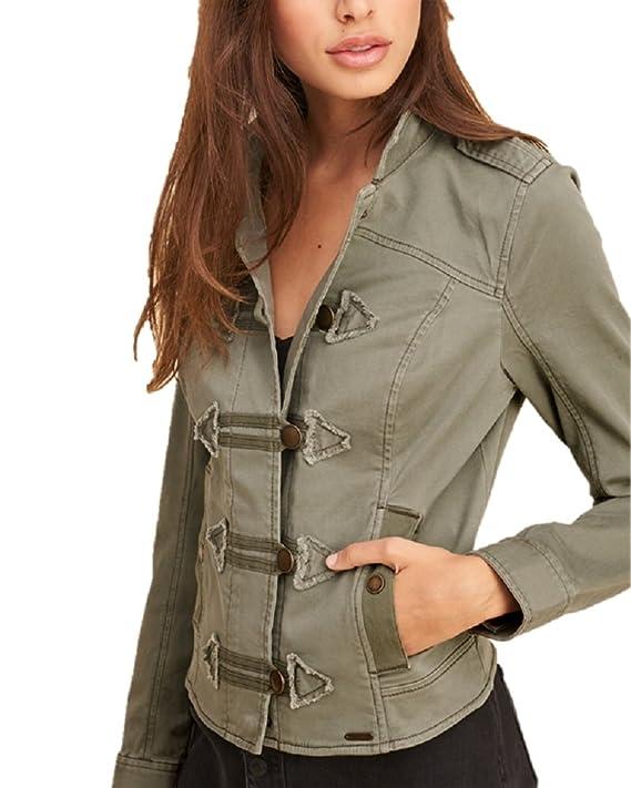 Hollister - Chaqueta - para Mujer Verde Verde Medium: Amazon ...