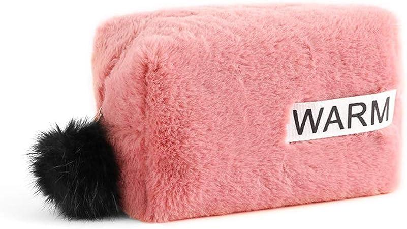 GuanjunLI - Estuche para lápices de peluche, diseño de bola, para niñas, bolsa de maquillaje, material escolar, color DP: Amazon.es: Oficina y papelería