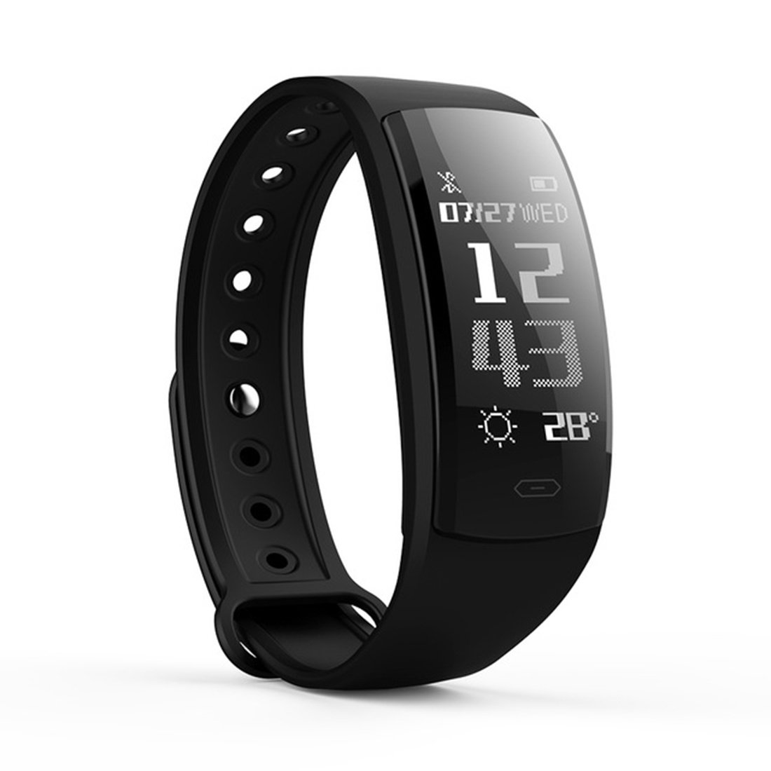 PINCHU QS90 Smart Wristbands Fitness Bracelet Blood Pressure Smart Bracelets Heart Rate Monitor Fitness Bracelet Band Waterproof, E
