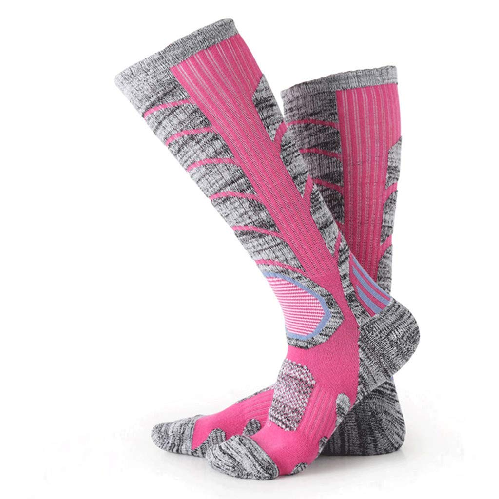 A(10pairs) Winter Ladies Ski Socks Warm Trend Outdoor Moisture Wicking Sports Socks, Hiking Trekking Socks Men's QuickDrying Socks (color   D(10pairs), Size   Ms. 3442)