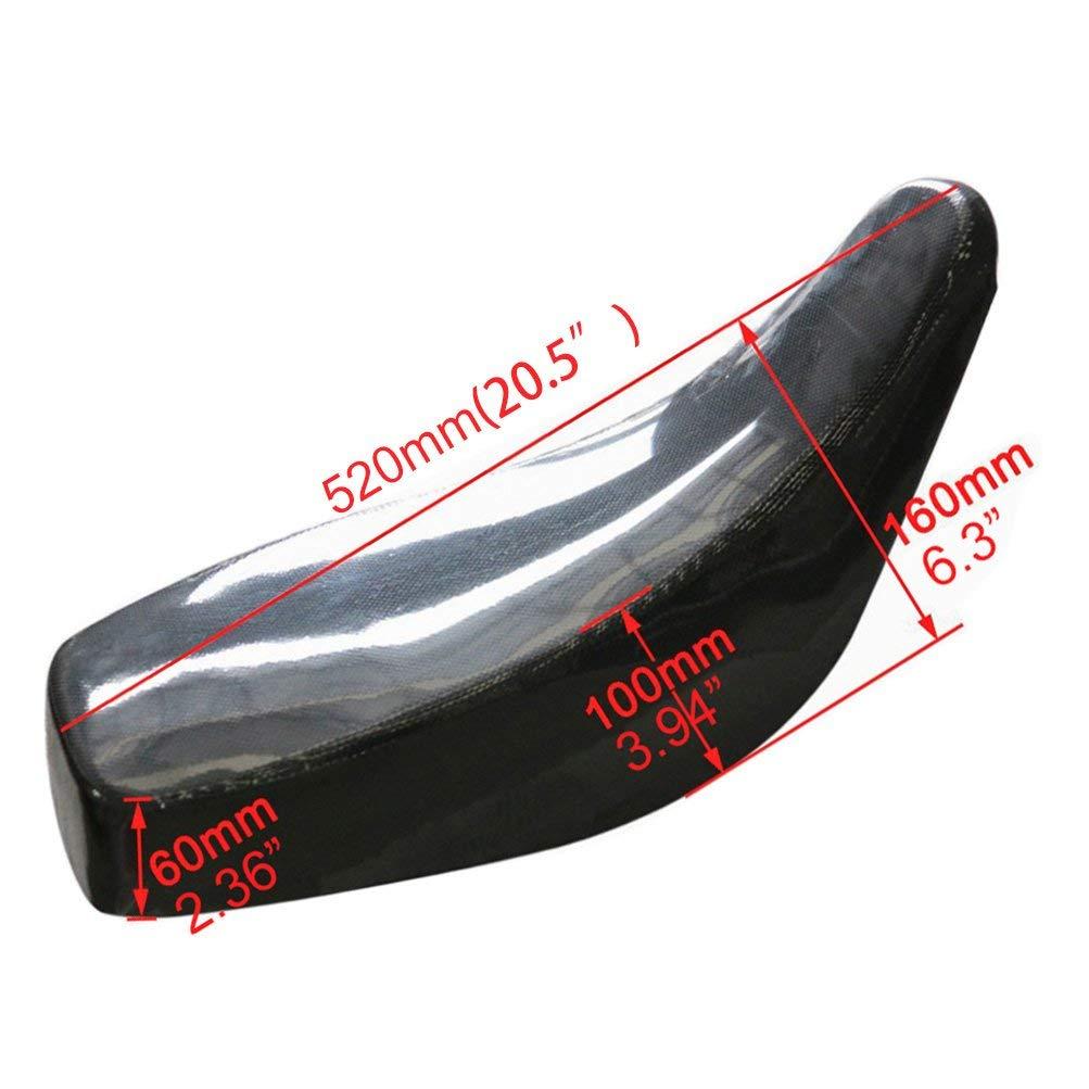 ZXTDR Black Seat for Chinese 50cc 70cc 110cc 125cc Quad 4 Four Wheelers ATV