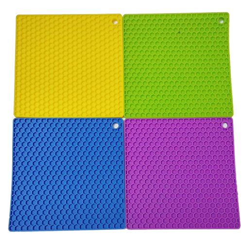 Leo's Choice Support en pot de silicone durable ensemble de 4 (Mixte 4)
