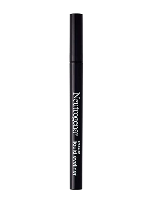 Neutrogena Precision Liquid Eyeliner with Honey & Coconut, Hypoallergenic, Smudge- & Water-Resistant Eyeliner Makeup for Precise Application, Jet Black, 0.013 fl. oz Best Eyeliner