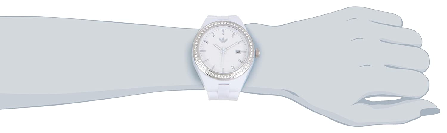 Amazon.com: Adidas Womens ADH2123 Cambridge 3-Hand Analog White Glitz Watch: Adidas: Watches