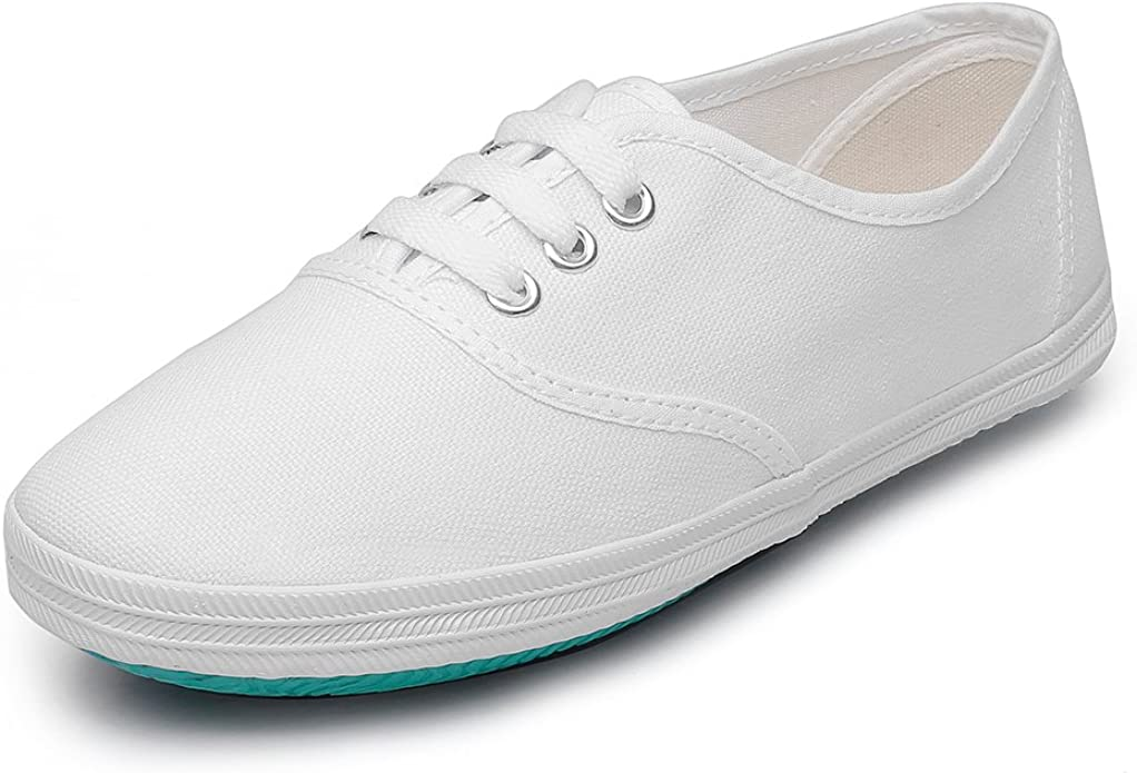 Maxu White Lace Up Sneakers Canvas