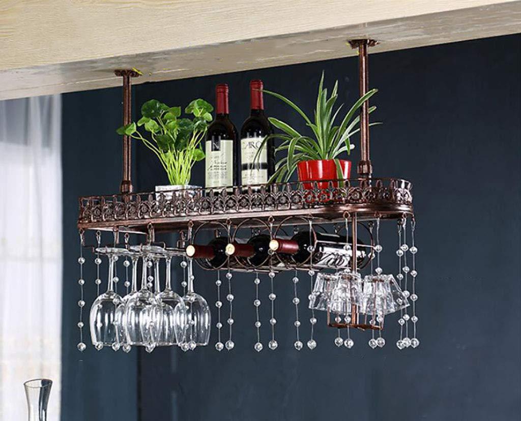 吊りワインステムウェアラック、天井取り付け吊りワインボトルホルダーメタルゴブレットワイングラス (色 : C, サイズ さいず : L100*W25CM) B07JDTHG5M L100*W25CM|C C L100*W25CM