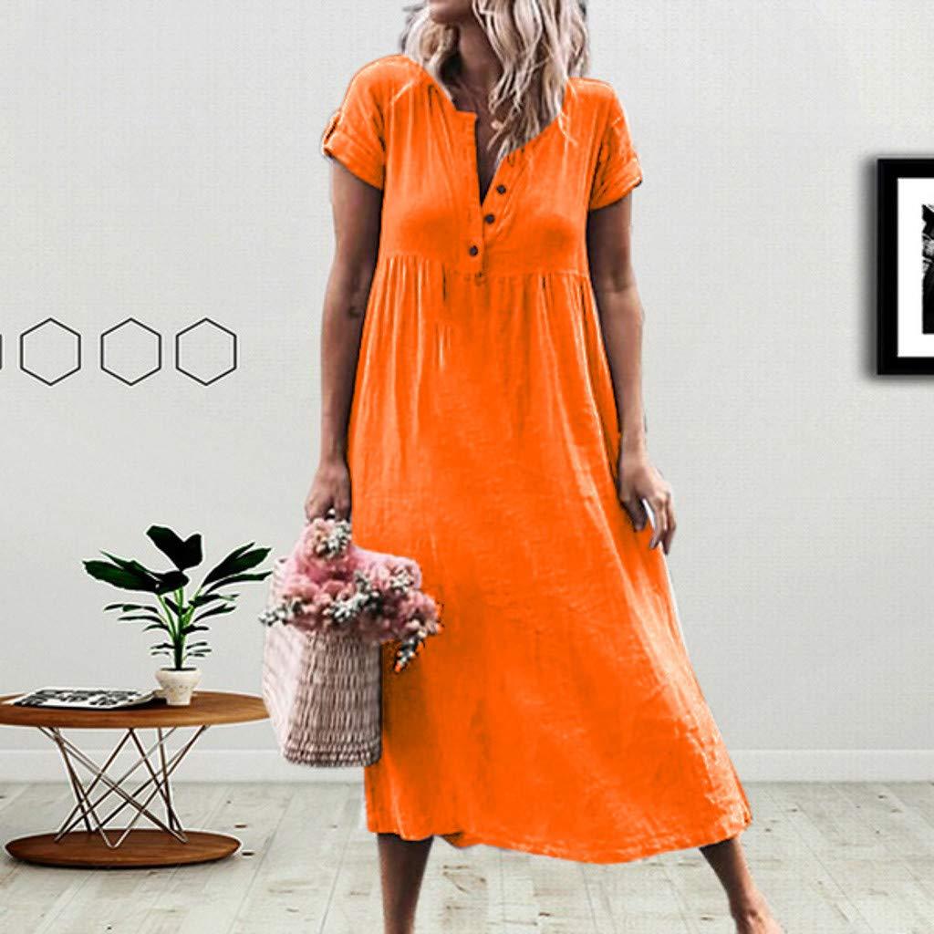 Kleid/Damen/Sommerkleid/Freizeitkleid/Shirtkleid/T-Shirt/Bluse/Tunika/Kurzarm/Leger/Langes/Locker/Kleid