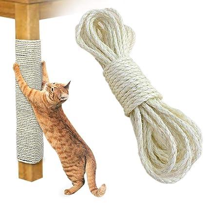 Lesgos Cuerda de Sisal Gatos, 20metros Cuerda de sisal de ...