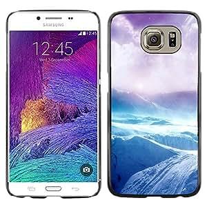 iKiki Tech / Estuche rígido - Arctic Antarctic Riffs Cliff Purple - Samsung Galaxy S6 SM-G920