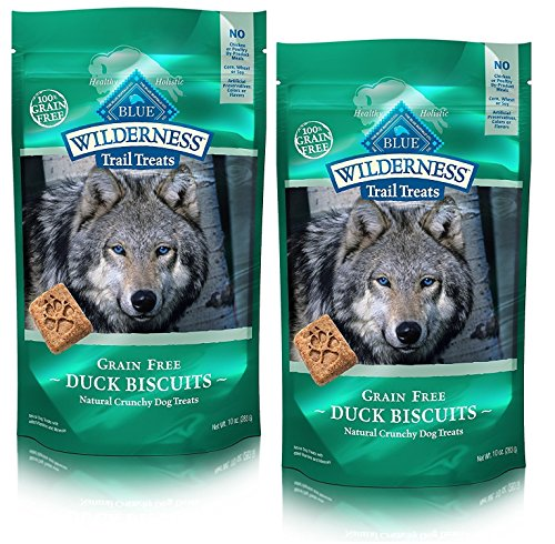 BLUE Wilderness Trail Treats Grain-Free Duck Biscuits Dog Treats (Trail Treats Duck Recipe, 10 oz (Pack of 2))