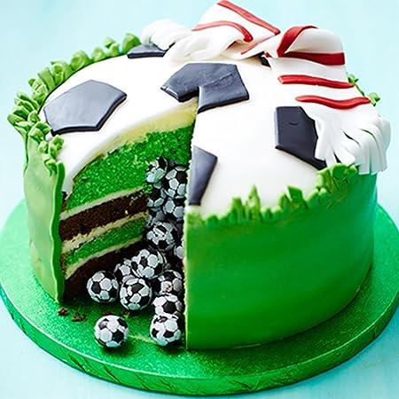 Molde para tartas de futbolín, molde para fondant, herramientas de decoración para tartas, fácil de operar y limpiar, Gessppo: Amazon.es: Hogar