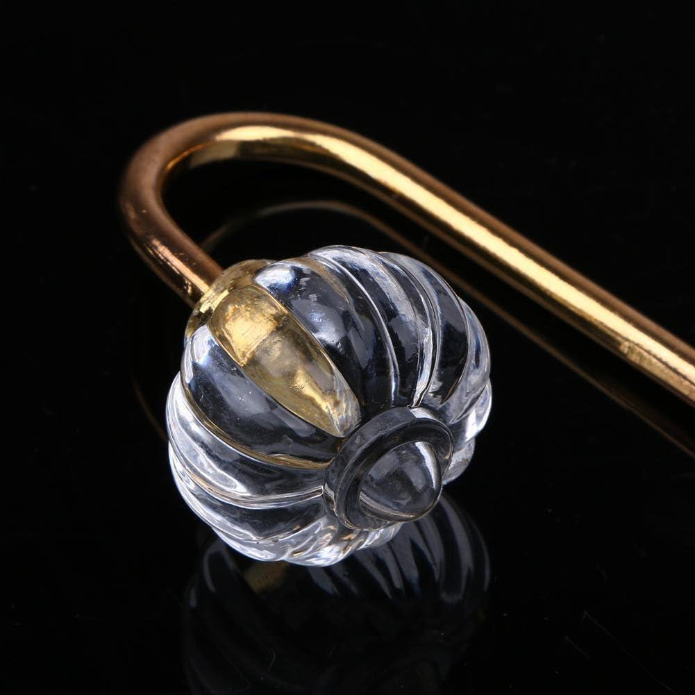 2pcs Gold Vorhang Haken 2 St/ück Transparenter Kristall Haken VOOYE Vorhang Raffhalter Heimb/üro Dekorativ Fenster Sicherung Vorh/änge Halter Clips
