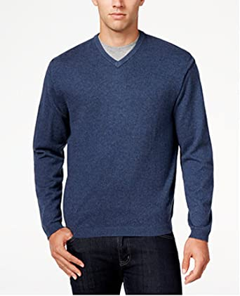 Weatherproof Vintage Men's Cashmere Blend V Neck Sweater