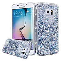 Urberry Galaxy S7 Edge Case, Silver S7 Edge Sparkling Cover, Flowing Liquid Floating Luxury Bling Glitter Sparkle Hard Case for Samsung Galaxy S7 Edge with a Free Screen Protector from Urberry
