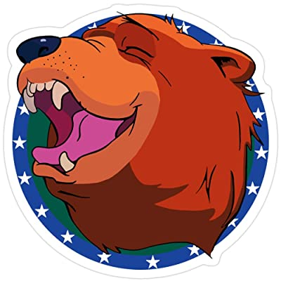 rangerpolocon Bear for Hire Stickers (3 Pcs/Pack) 5410803143970: Home & Kitchen